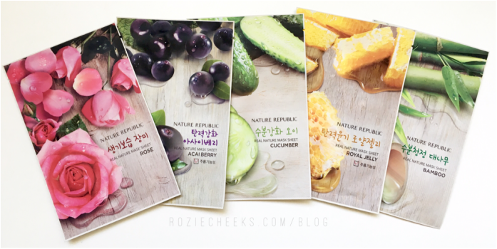 Nature Republic Real Nature Mask Sheet - roziecheeks.com/blog