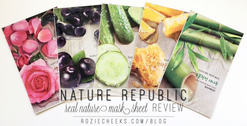 Nature Republic Real Nature Mask Sheet | roziecheek.com/blog