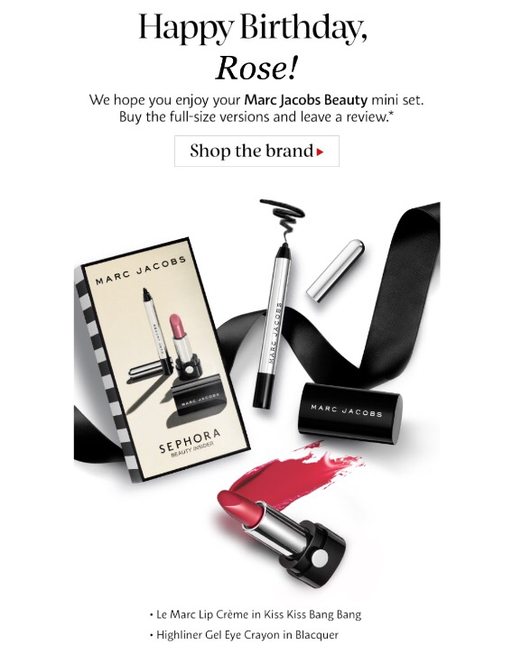 Happy Birthday! Love, Sephora + Marc Jacobs Beauty | roziecheeks.com/blog