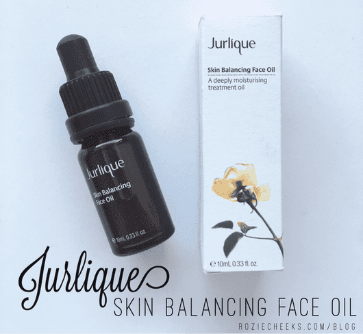 Jurlique Skin Balancing Face Oil Review - roziecheeks.com/blog